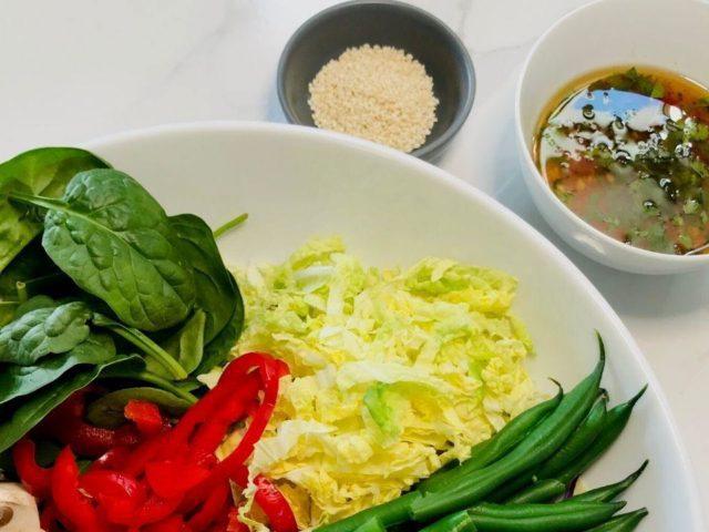 Crunchy Salad with Thai Sesame Dressing
