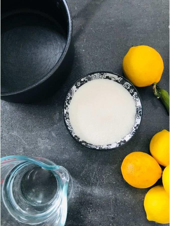homemade sugar free lemonade