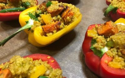 Roasted Capsicums with Couscous and Pumpkin